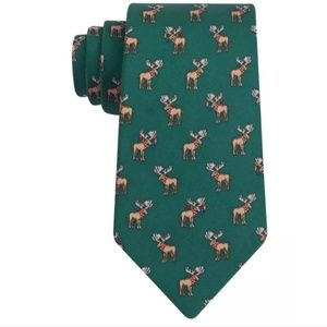 Tommy Hilfiger Mens Holiday Moose Print Necktie